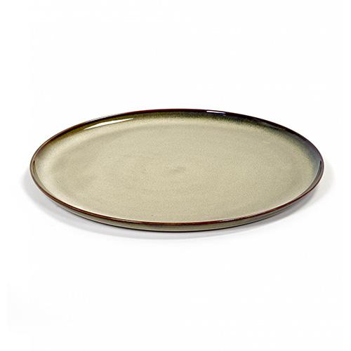 dinerbord rond 26cm kleur misty grey servies terres de reves serax