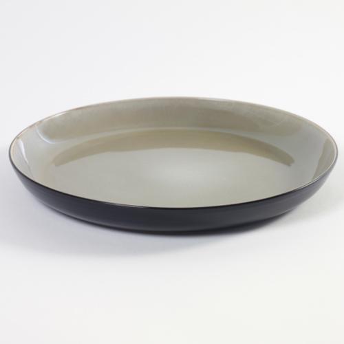 schaal diep large 29cm pure pascale naessens serax servies violetgrijs zwart