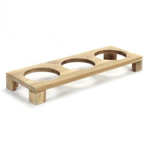plateau hout voor 3 potjes 38 5x13 5cm pure pascale naessens serax servies