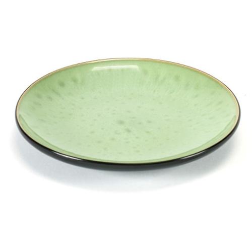bord rond medium 16cm pure pascale naessens serax servies groen zwart
