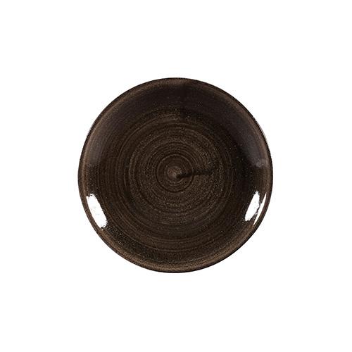 coupe bord 16 5cm churchill stonecast patina iron black