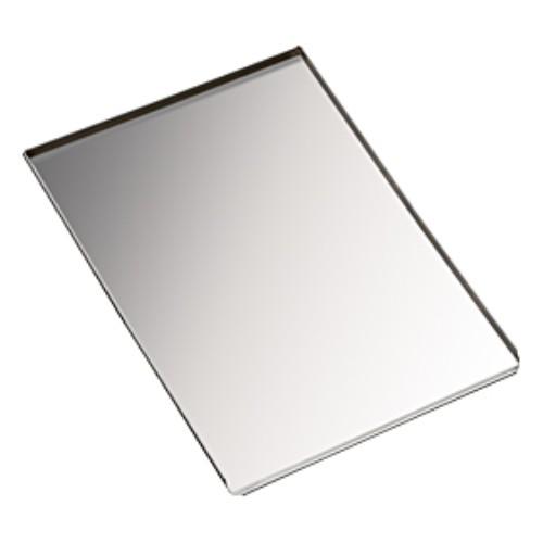 Bakplaat aluminium 60 40cm 3 opstaande randen 1 scheprand