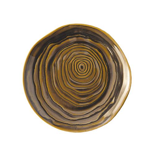 Bord diam 21 cm bronze brons Pillivuyt Teck