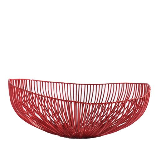 Schaal ovaal meo rood SERAX Metal Sculptures Antonino Sciortino