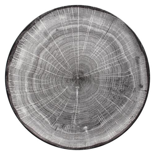 Coupebord plat diam 29cm Beech Grey grijs Woodart Rak Porcelain