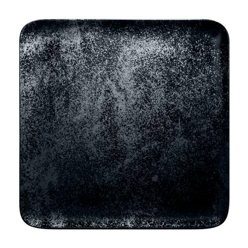 Bord vierkant afm 33cm Carbon Zwart Karbon Rak Porcelain