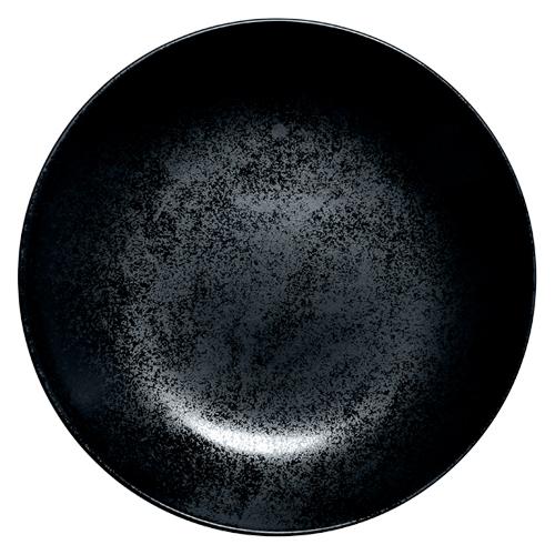 Coupebord diep diam 28cm Carbon Zwart Karbon Rak Porcelain