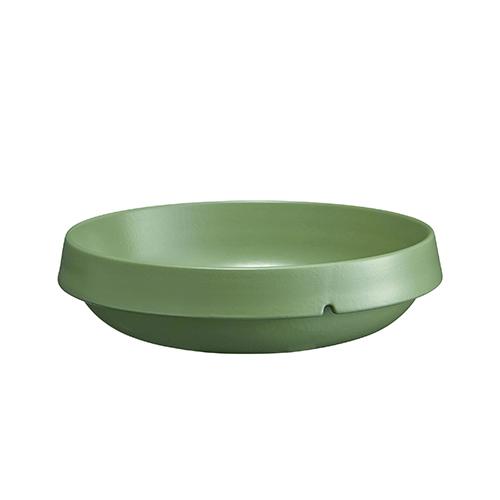 Schaal rond diam 24cm inh 1.8ltr groen Vert Cypres Welcome Emile Henry