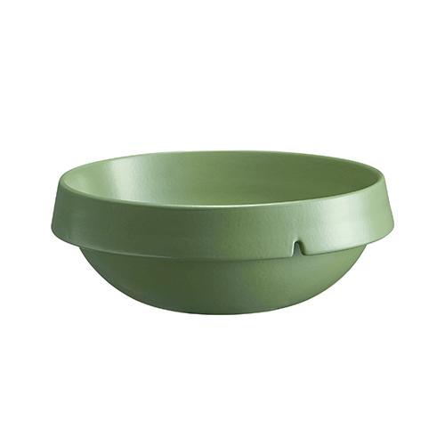 Schaal rond diam 24cm inh 2.5ltr groen Vert Cypres Welcome Emile Henry