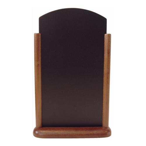 Tafelkrijtbordje Elegant Top securit bruin hout 410x265mm