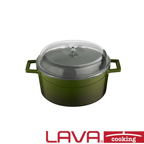 Stoofpan glazen deksel 20cm groen LAVA cooking