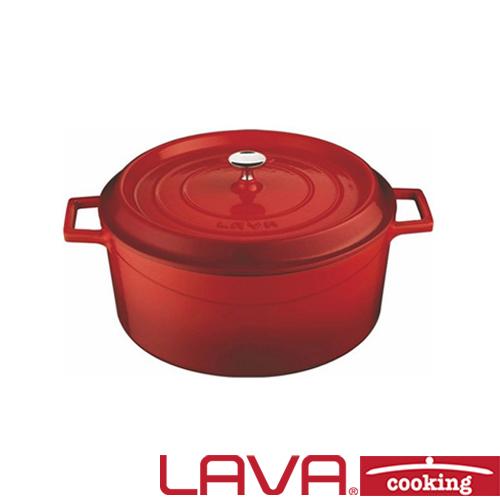 Braadpan deksel 24cm rood LAVA cooking