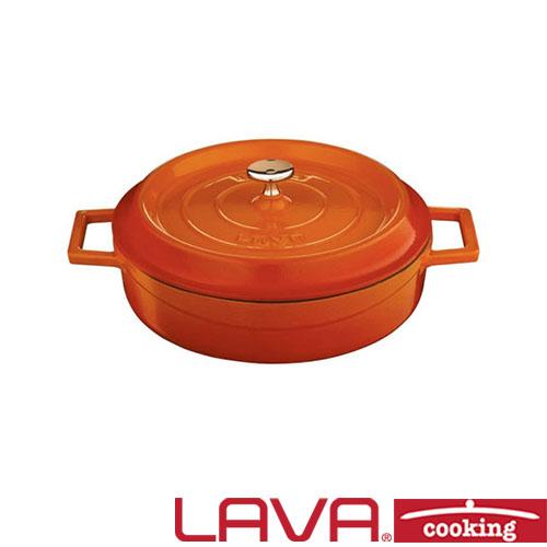 Braadpan deksel laag 24cm oranje LAVA cooking