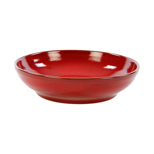 saladeschaal 23cm kaito stoneware blossom red