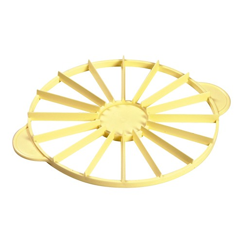 Taartverdeler diam 27cm geel kunststof