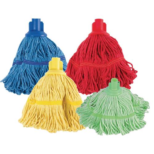 Antibacteriele mop sterk absorberend met kleurcodering