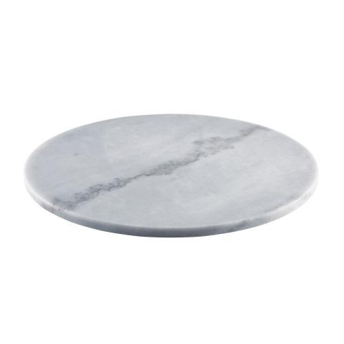 Plateau rond diam 33cm grijs marmer