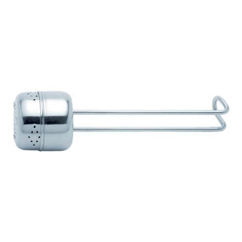 Thee ei infuser kruidenzeef cilinder model met draadgreep roestvrijstaal 18 8