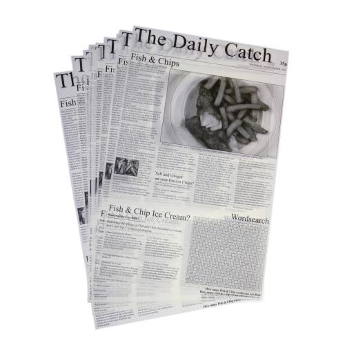 vetvrij papier met opdruk daily catch 25x40cm 500 stuks