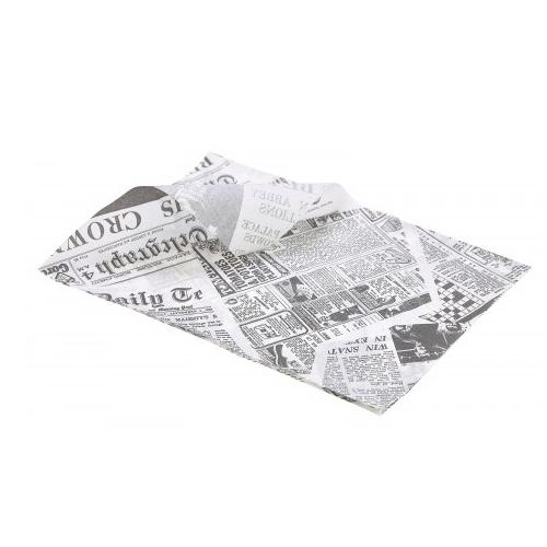 vetvrij papier met opdruk krant newspaper the daily telegraph 35x25cm 1000 stuks
