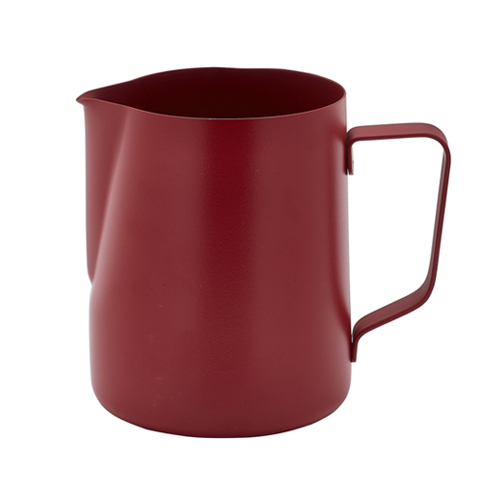 Roomkan non stick coating inh 0.6ltr roestvrijstaal rood