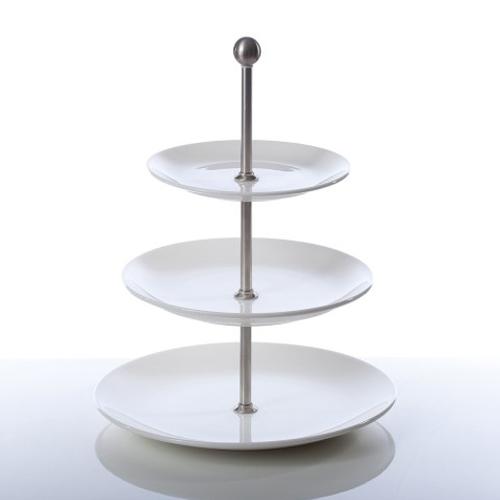 Etagère rond 3 niveaus coupeborden porselein