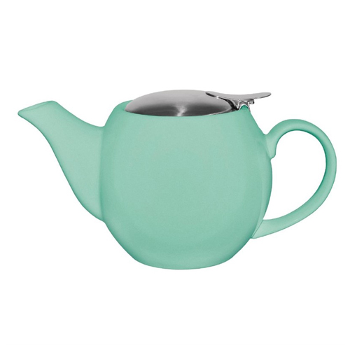 Theepot inh 51cl porselein staal aqua