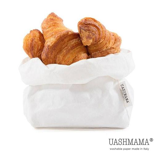 Paper bag papieren zak UASHMAMA wit