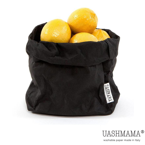 Paper bag papieren zak UASHMAMA zwart