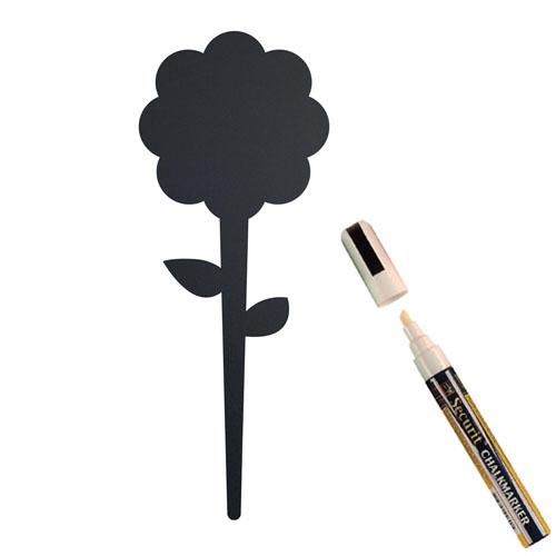 Krijtbordje Securit bloem silhoutte set 5 stuks met marker