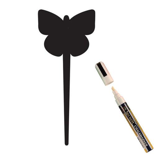 Krijtbordje Securit vlinder silhoutte set 5 stuks met marker