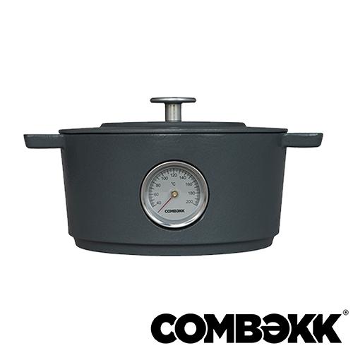 Combekk Dutch Oven Concrete thermometer braadpan 24cm betongrijs 100124CC