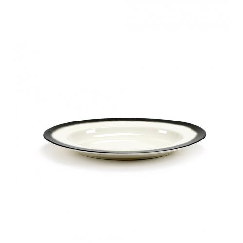 Schaal m black edge pasta ovaal afm 42x29cm SERAX Pasta Pasta Paola Navone
