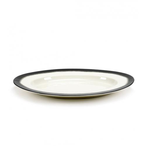 Schaal xl black edge pasta ovaal afm 57x40.5cm SERAX Pasta Pasta Paola Navone