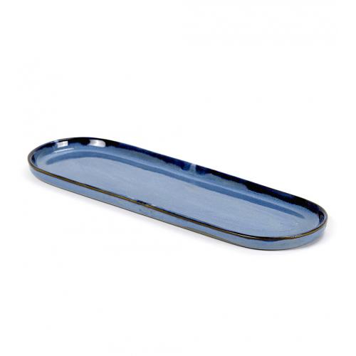 Bord ovaal afm 28x9cm Blue SERAX Terres De Reves Anita Le Grelle