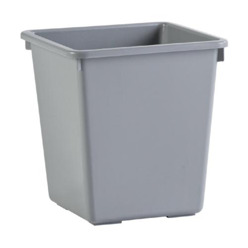 papierbak prullenbak afvalbak vierkant grijs open zonder deksel 27 liter