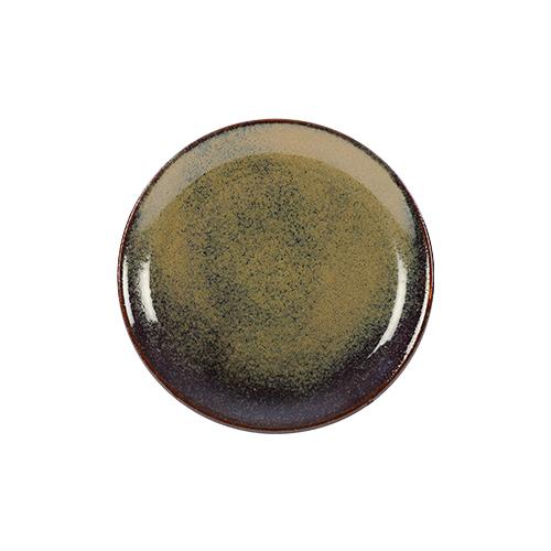 coupebord 16cm kaito stoneware forest green
