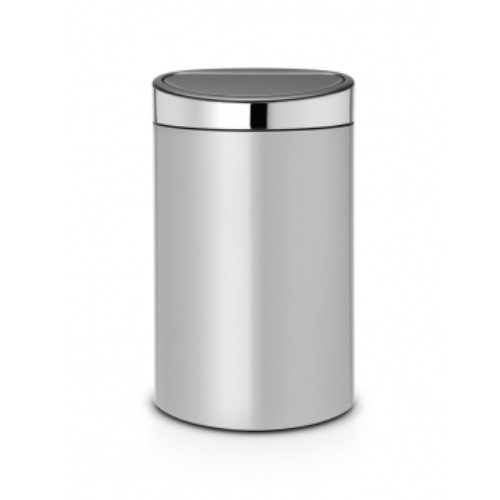 Brabantia Touch Bin New 40 liter Metallic Grey 114861
