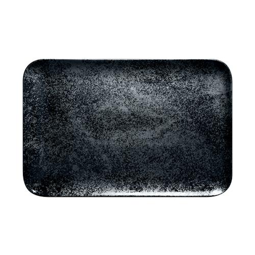 Schaal rechthoekig afm 33x27cm Carbon Zwart Karbon Rak Porcelain
