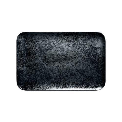 Schaal rechthoekig afm 33x22cm Carbon Zwart Karbon Rak Porcelain