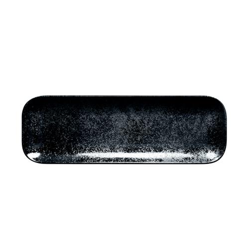 Schaal rechthoekig afm 22x11cm Carbon Zwart Karbon Rak Porcelain