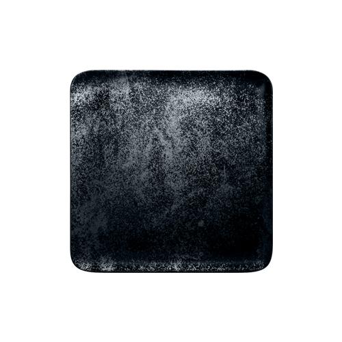 Bord vierkant afm 12cm Carbon Zwart Karbon Rak Porcelain