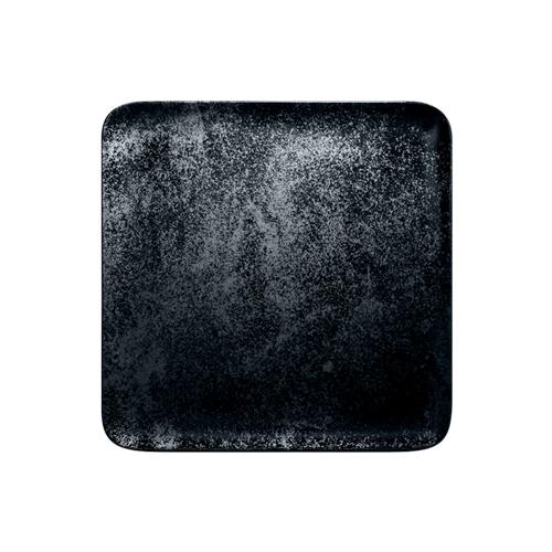 Bord vierkant afm 15cm Carbon Zwart Karbon Rak Porcelain