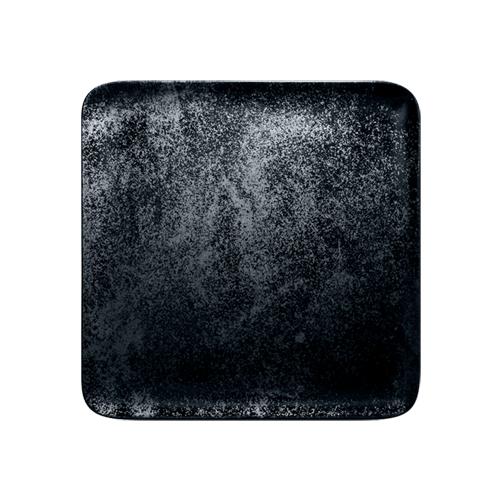 Bord vierkant afm 22cm Carbon Zwart Karbon Rak Porcelain