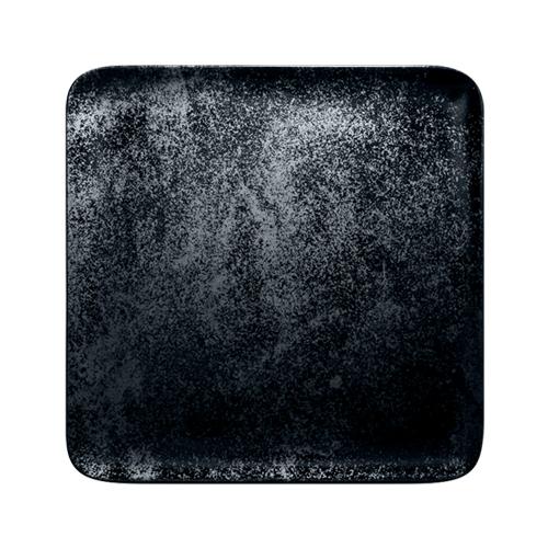 Bord vierkant afm 27cm Carbon Zwart Karbon Rak Porcelain
