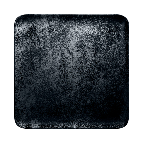 Bord vierkant afm 30cm Carbon Zwart Karbon Rak Porcelain
