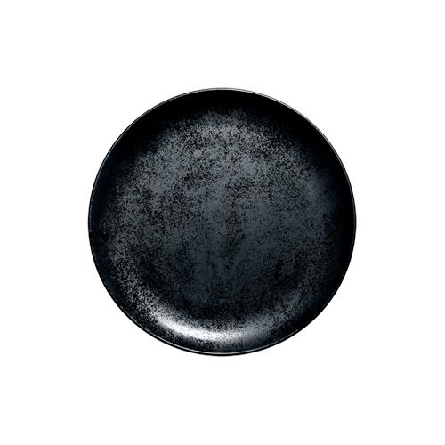 Coupebord plat diam 18cm Carbon Zwart Karbon Rak Porcelain