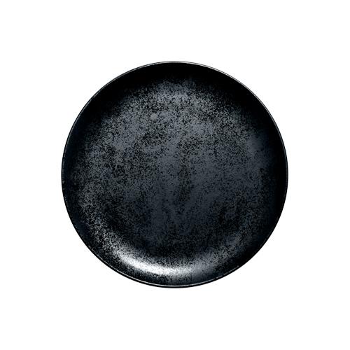 Coupebord plat diam 21cm Carbon Zwart Karbon Rak Porcelain