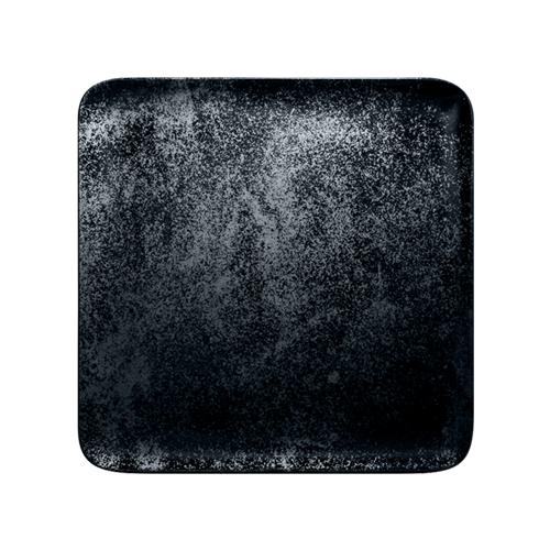 Bord vierkant afm 24cm Carbon Zwart Karbon Rak Porcelain