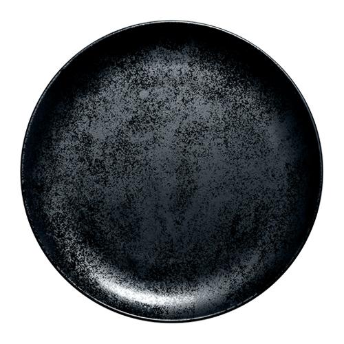 Coupebord plat diam 29cm Carbon Zwart Karbon Rak Porcelain